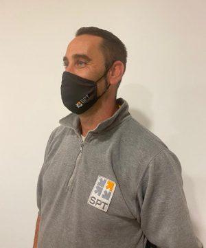 Mascarillas de tela corporativas para nuestros empleados